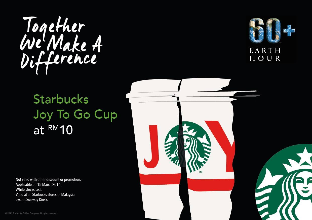 Starbucks Joy to Go Cup at RM10 only!