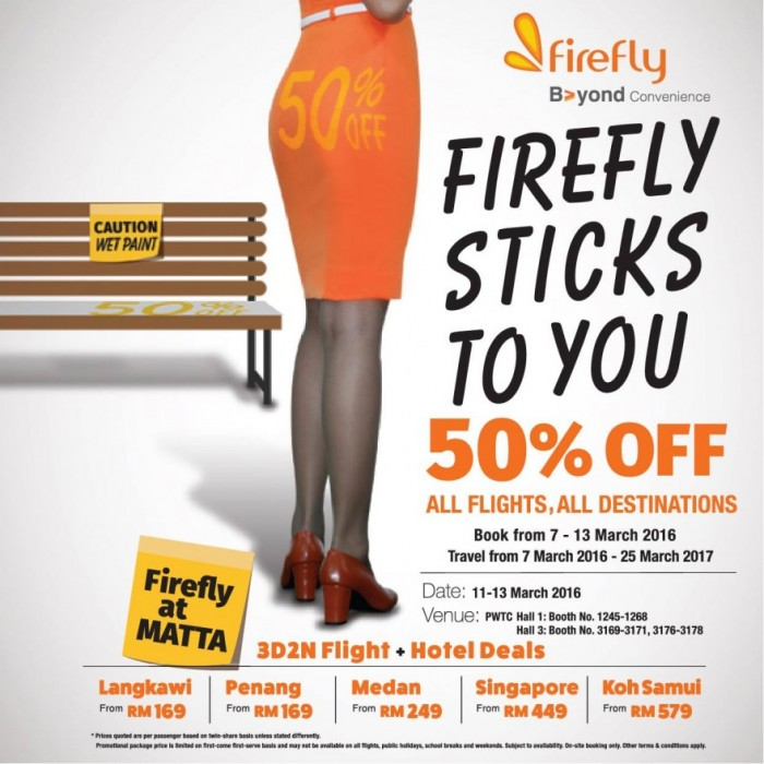 Firefly 50% Off All Flights