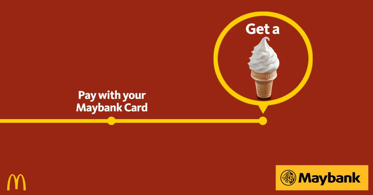 Free McDonald's Sundae Cone with MaybankCards