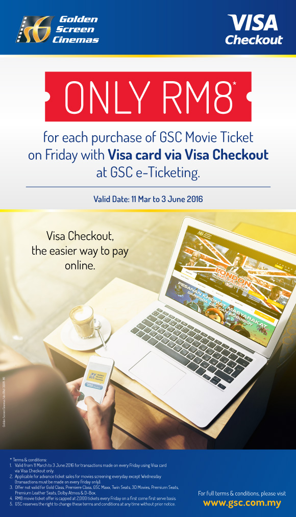 GSC - Flat RM8 movie ticket