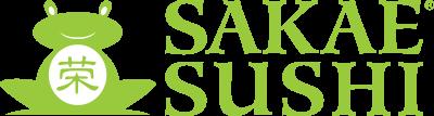 SAKAE logo green frog green text e