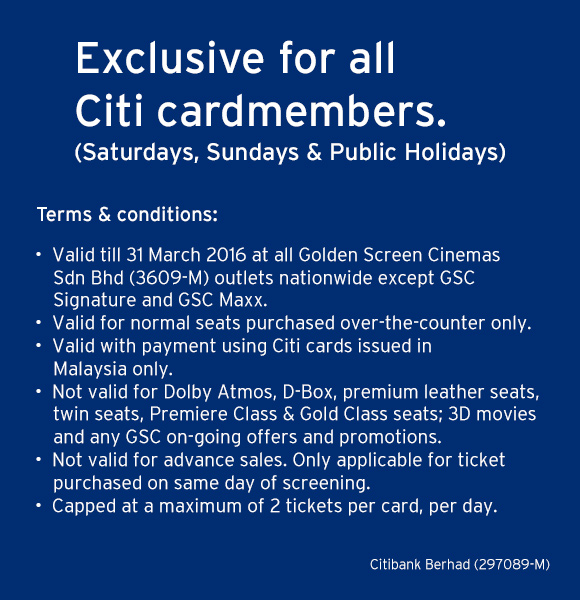 GSC Promotion for All Citibank Cardmembers