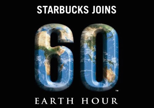 starbucks earth hour promotion