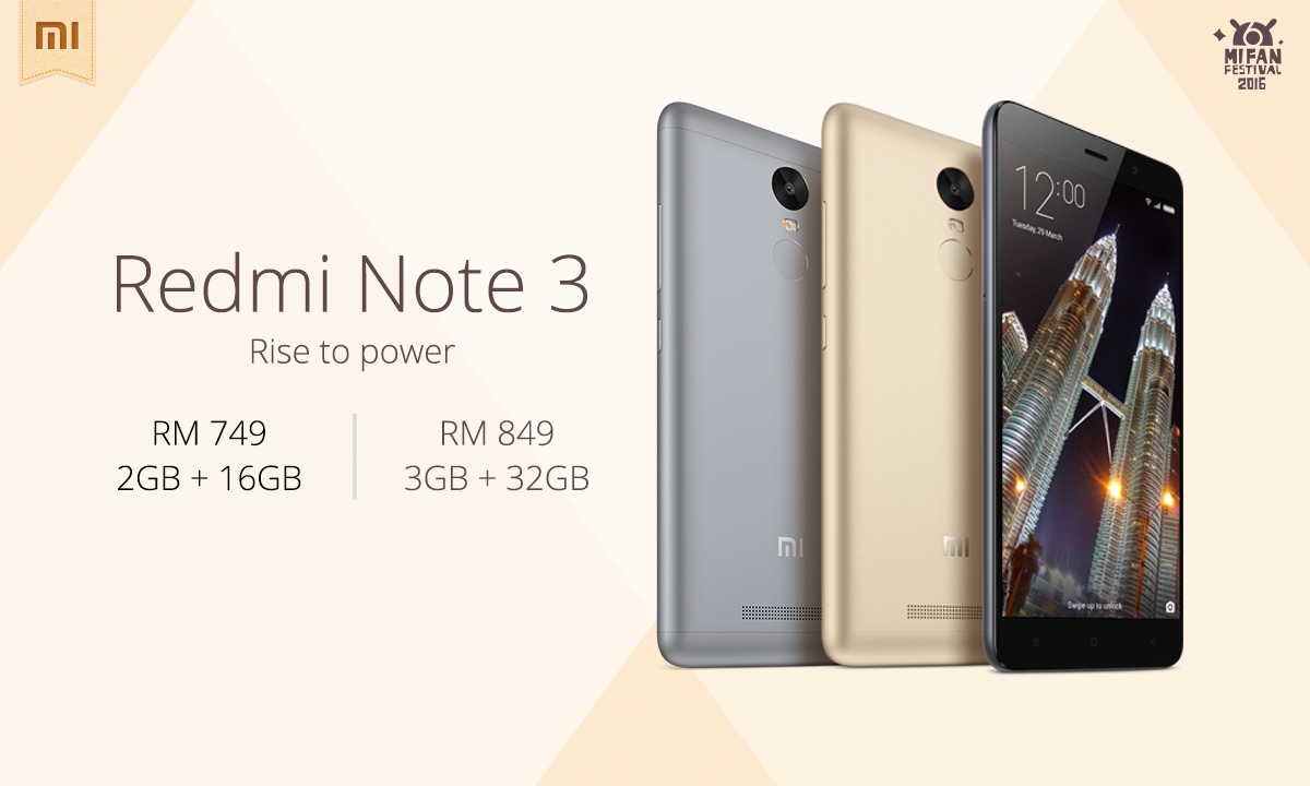 Redmi Note 3 Launching in Malaysia
