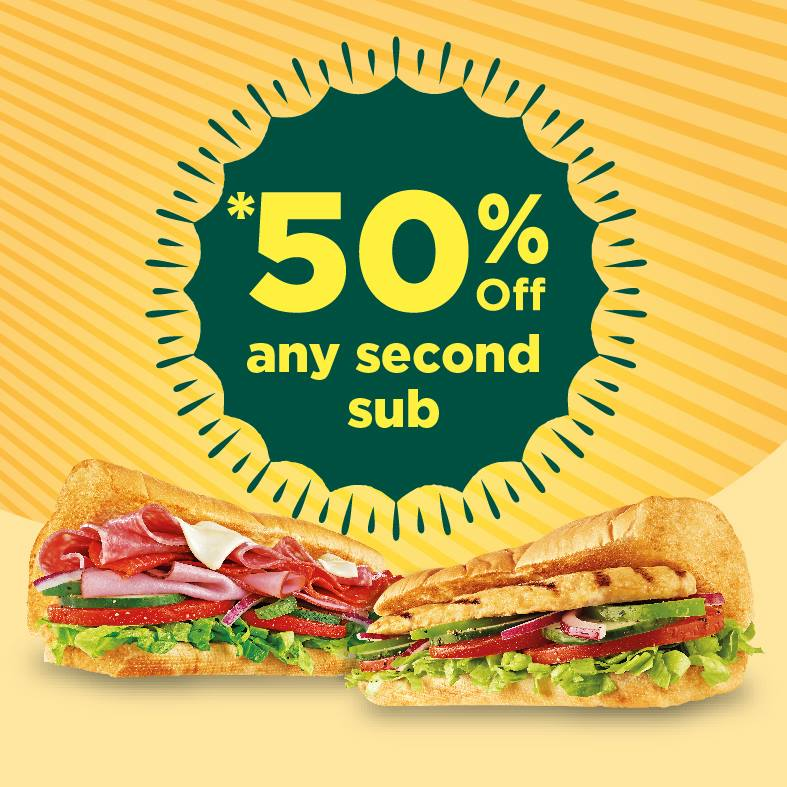 SubwayPromotion SecondSubat%