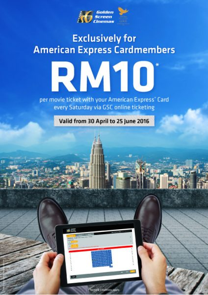Amex Promotion - GSC Movie Ticket for RM10