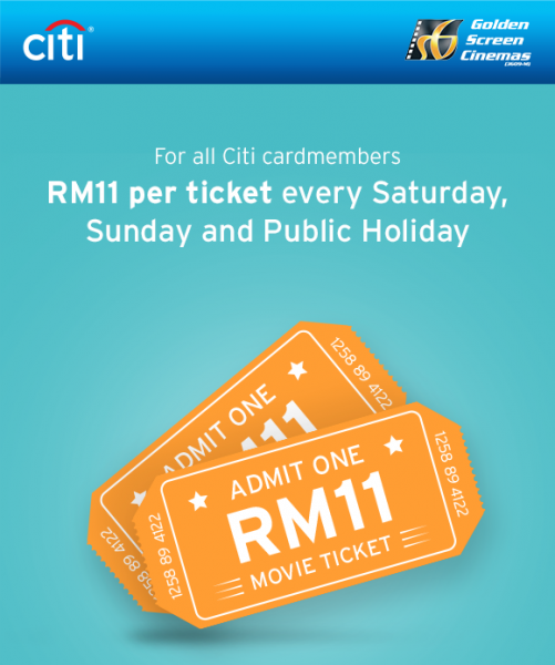 GSC Citibank Promotion - RM11 Flat Price