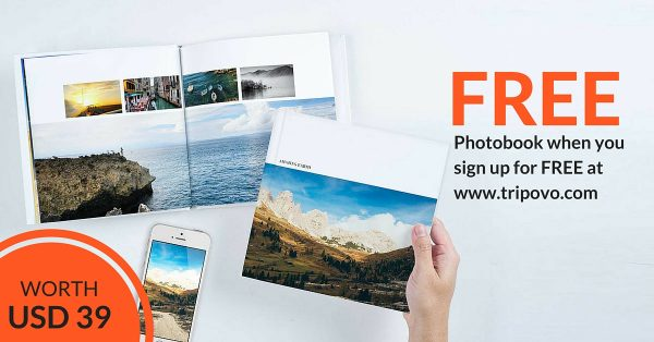 Sign up Tripovo for Free Photobook