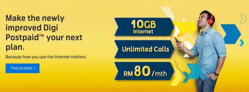 Digi Postpaid 80 Plan - 10GB of Data for RM80