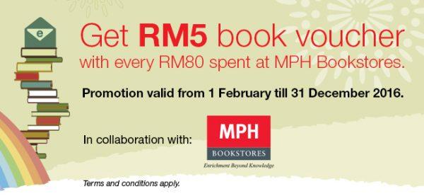 Get RM5 MPH Book Voucher with CIMB
