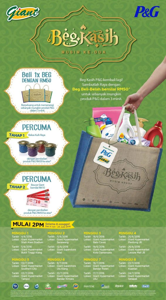 Giant Promotion - P&G Product in a bag ONLY RM50