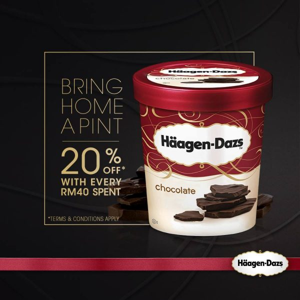 Haagen Dazs Ice Cream 20% OFF Promotion