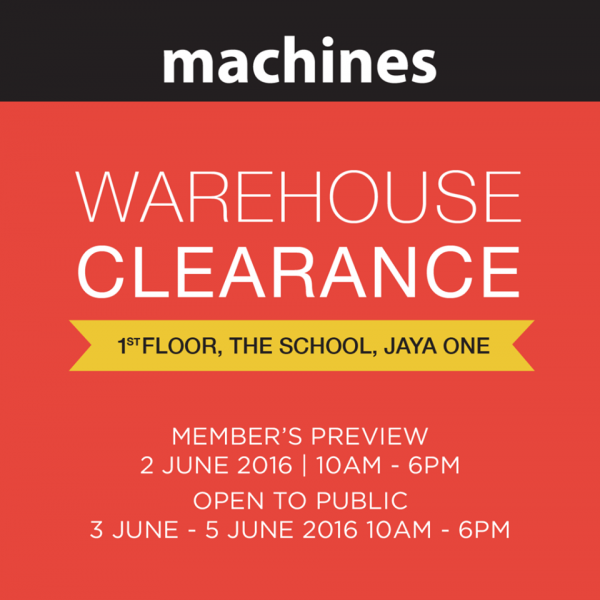 Machines - Apple Warehouse Clearance 2016