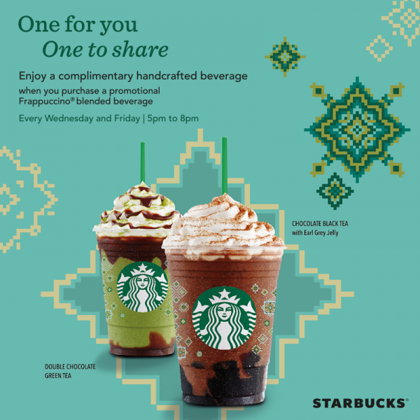 Starbucks Ramadan Promotion - BUY 1 FREE 1