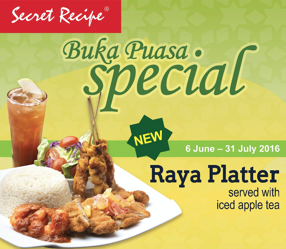 Secret Recipe Buka Puasa Promotion 2016