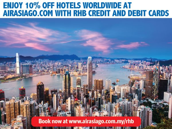 AirAsiaGo Promotion - 10% OFF Hotels with RHB