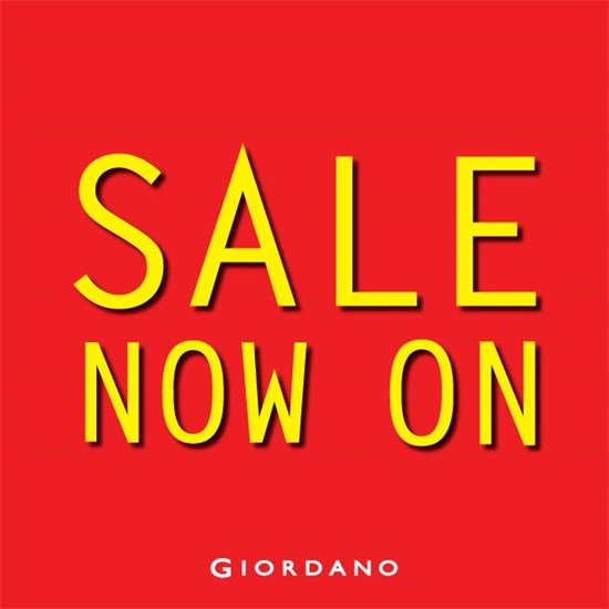 Giordano Festive Sale Up to 50% Off