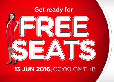 AirAsia FREE SEAT Promotion Fares 2016