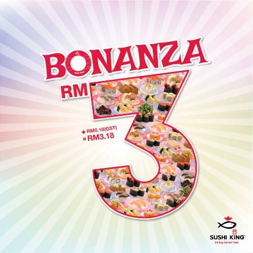 Sushi King Bonanza Promotion 2016 - RM3.18 per Sushi