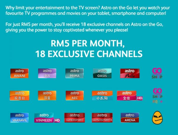 Get Astro On the Go for only RM5 per month - Freebies MY