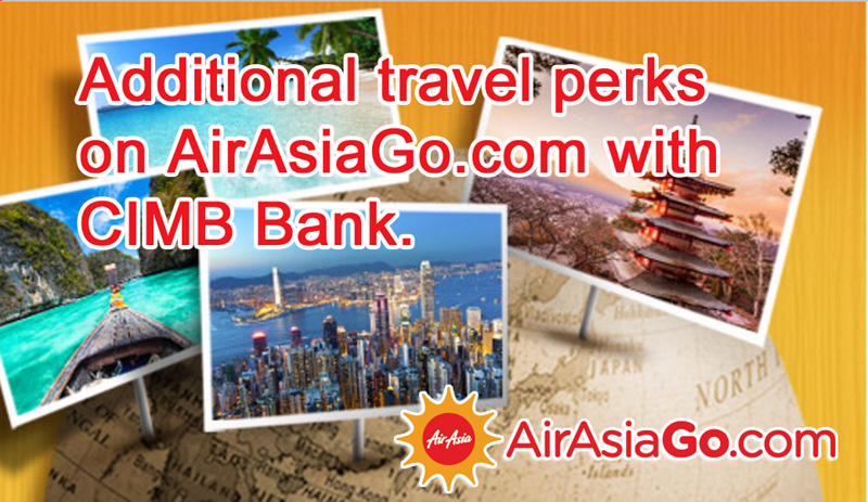 AirAsiaGo Promotion 2016 - Travel Perks from CIMB Bank