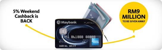 Maybank 5% Weekend Cashback is BACK!