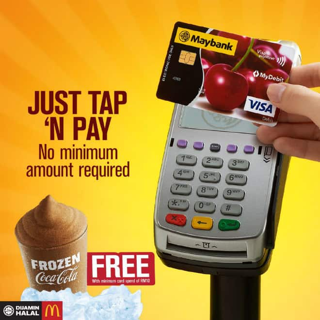 Tap and Pay to get a McDonald's Free Frozen Coke