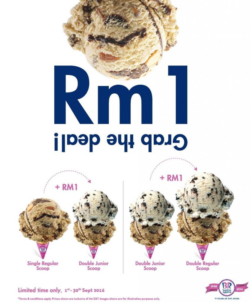 Baskin Robbins RM1 Extra Scoops Ice Cream Promotion