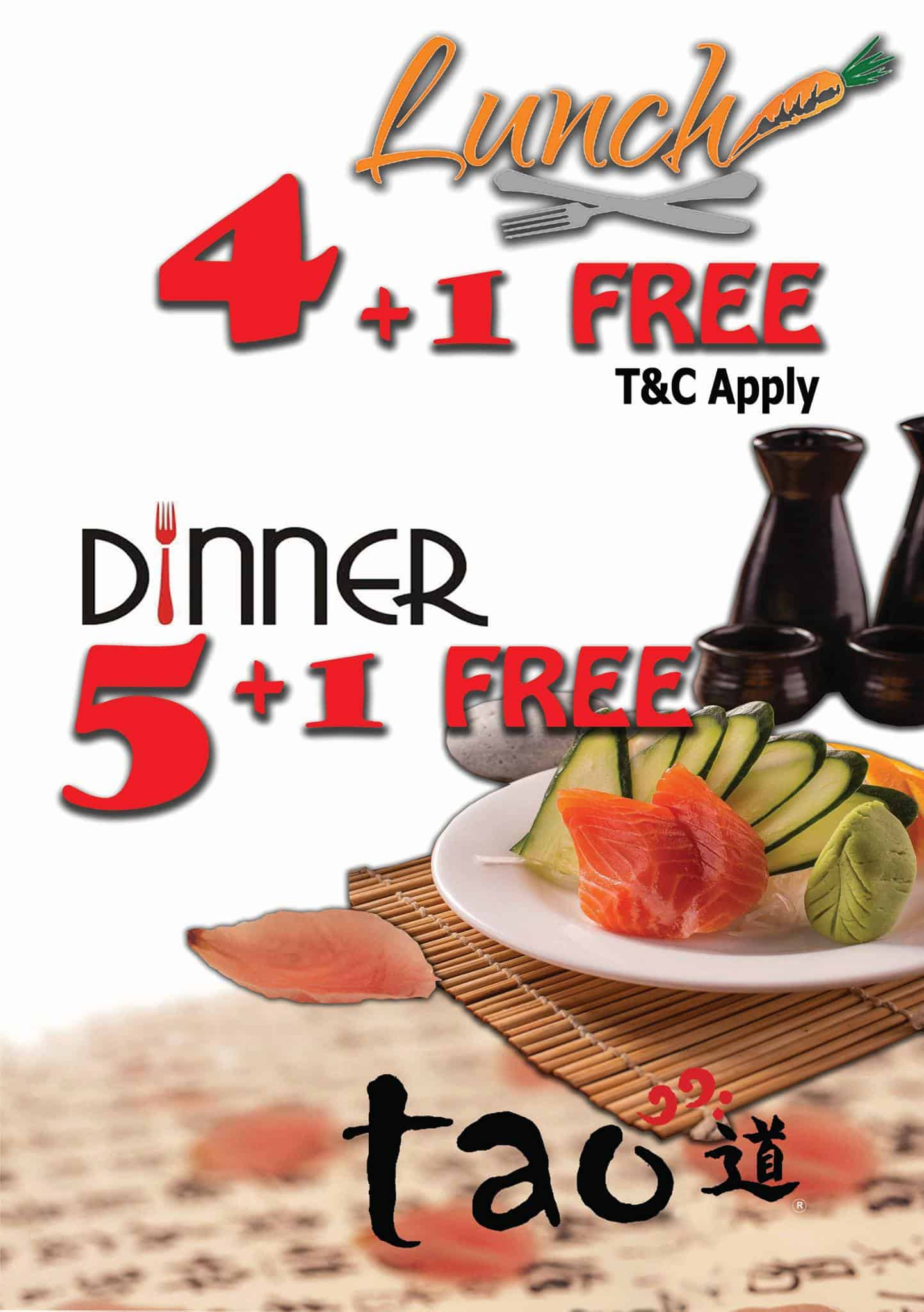 Tao Authentic Asian Cuisine September Promotion