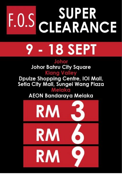 F.O.S Super Clearance Sale 2016
