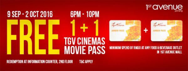 FREE TGV Cinemas Movie Pass