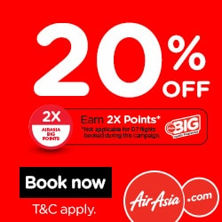 MYCyberSALE - AirAsia 20% off