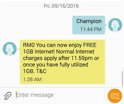 Xpax and Celcom FREE 1GB Data on Malaysia Day 2016