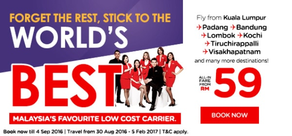 AirAsia RM59 Lowest Fares
