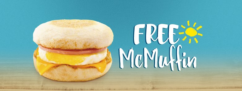 McDonald's FREE Chicken Muffin Burger Giveaway 2016