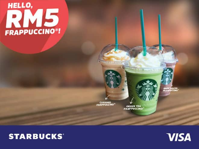 Enjoy Starbucks Frappuccino for RM5