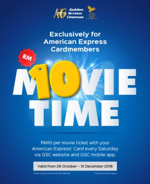 GSC RM10 for AMEX Cardmembers Every Saturday
