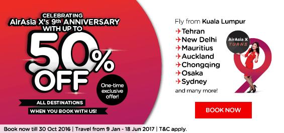 AirAsia 50% Promotion