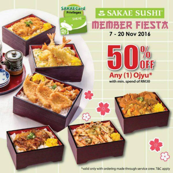 Sakae Sushi 50% Promotion with SAKAECard 2016