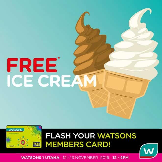 Watsons FREE Ice Cream Giveaway