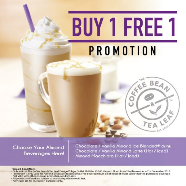 Coffee Bean BUY 1 FREE 1