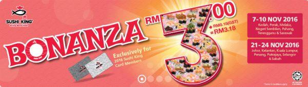 Sushi King Bonanza RM3