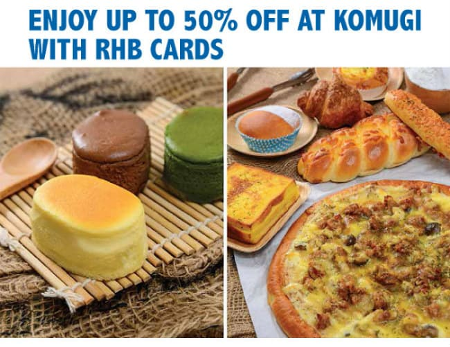 Komugi 50% OFF Promotion with RHB Cards