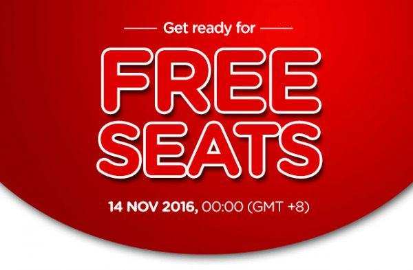 AirAsia Free Seat November 2016