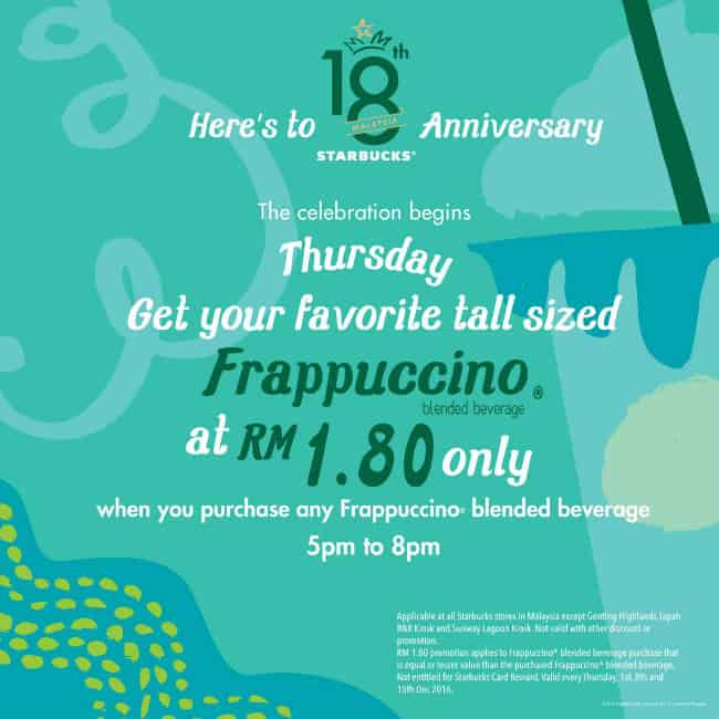 Starbucks RM1.80 Promotion