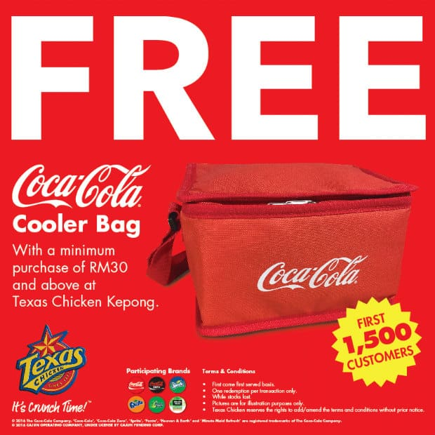 FREE Coca-Cola Cooler Bag Giveaway by Texas Chicken