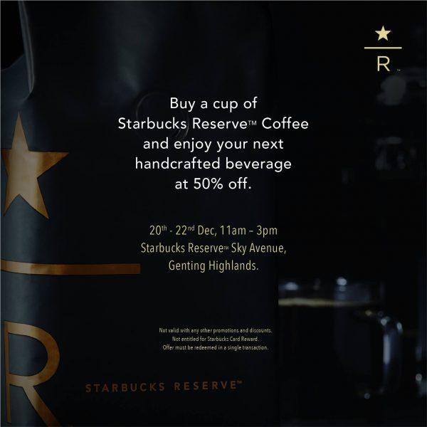 Starbucks 50% OFF