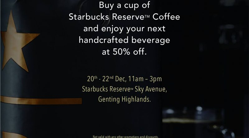 Starbucks 50% OFF - Opening of Second Starbucks at Sky Avenue