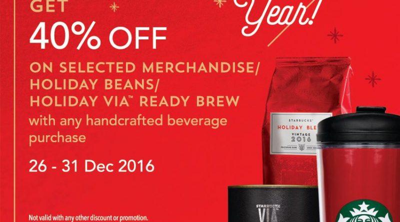 Starbucks 40% Discount