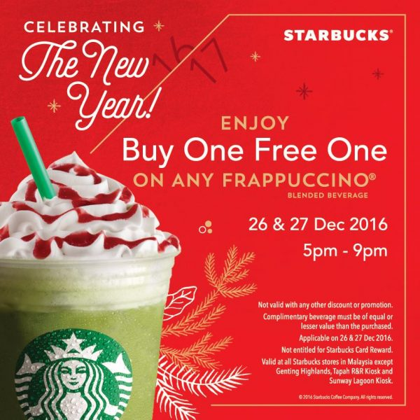 Starbucks Buy One Free One